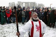 Druids Celebrate The Winter Solstice At Stonehenge