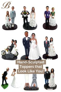 🖐️ Hand-sculpted from your photos! Select from a variety of best-selling wedding cake toppers and customize them with your suit and dress! 💕 A perfect gift for you and your loved ones 🎁 Batman Wedding Cakes, Funny Wedding Cakes, Personalized Wedding Cake Toppers, Custom Cake Toppers, Reception Ideas, Wedding Reception, Wedding Goals, Dream Wedding, Hockey Wedding