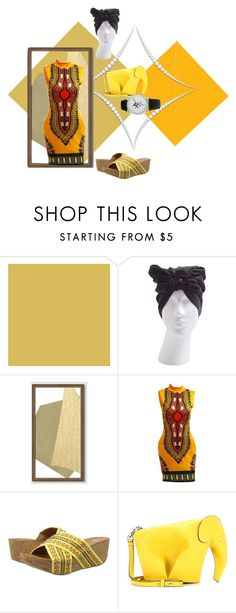 """""""Women's Golden African Truth Transcends Translation Formal"""" by eternalfeatherfilm on Polyvore featuring EC MOOD, West Elm, Yellow Box and Loewe"""