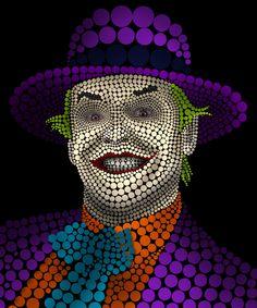 Circleface Portrait - Jack Nicholson by Markus Müller, via Behance