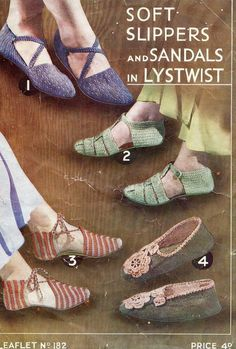Hey, I found this really awesome Etsy listing at https://www.etsy.com/listing/57721702/stunning-1930s-knitted-and-crochet-shoes