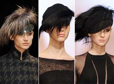 Fall/ Winter 2014-2015 Headwear Trends: Extravagant Feathery Hats  #hats #headwear