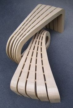 BENCH IN CARDBOARD BY TONKR - LORYN by CHRISTOPHE FLAHAUT