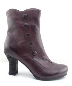 Wine Kitty Leather Ankle Boot by Miz Mooz #zulily #zulilyfinds