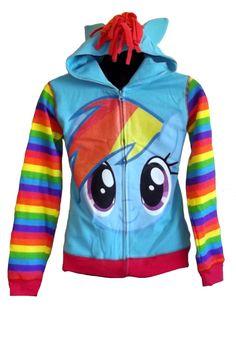 My Little Pony Big Girls Rainbow Dash Hoodie