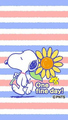 One fine day! Snoopy and Woodstock with a giant flowers. Cartoon Wall, Cartoon Dog, Cute Cartoon, Cartoon Characters, Snoopy Love, Snoopy And Woodstock, Peanuts Cartoon, Peanuts Snoopy, Snoopy Pictures