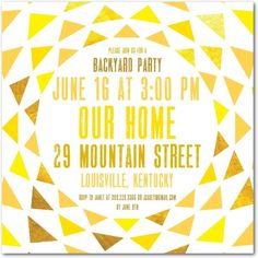 Glowing Gala - Party Invitations in Sunny Yellow or Paradise | Picturebook