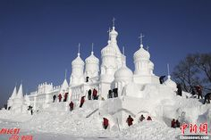 ice church sculpture