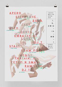Affiche typographique par Patric Dreier sur Clikclk