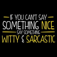 {*} WIT.If you can't think of anything witty or sarcastic, use curse words and middle fingers. That'll really show 'em!