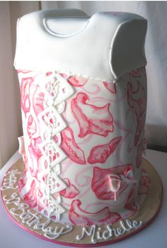 lilly dress cake ha