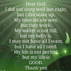 I have all I need in you God.