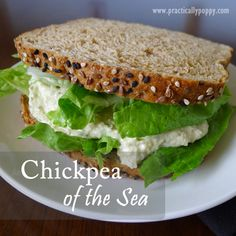Chickpea of the Sea - vegetarian alternative to tuna salad sandwich - so easy and tasty!