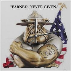 United States Marine Corps Bulldog Drill Instructor. EARNED, NEVER GIVEN. CLICK ONTO PHOTO TO GET DIRECT ONLINE ACCESS