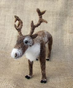 Needle Felted Reindeer Figure  Posable by MischiefsManifold