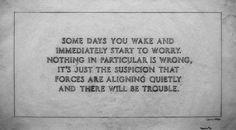 Dit herken ik wel, dat zijn de voorgevoelens voor iets vervelends dat gaat komen... luister naar je intuïtie, die heeft het vaak bij het rechte eind!  xxxx mams