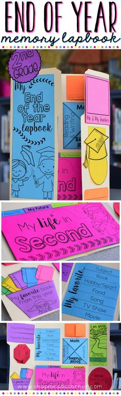 As the school year winds down, it& always fun to look back on the positives from the year and celebrate achievements and fun memories. Use this memory lapbook as a creative way for students to reflect on the school year! End Of Year Activities, Classroom Activities, Classroom Ideas, End Of School Year, School Fun, Student Gifts, Teacher Gifts, Teacher Stuff, Memory Books