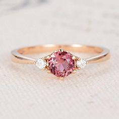 Tourmaline Engagement Ring Rose Gold Tourmaline Ring October
