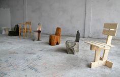 milano: max lamb's exercises in seating at milan design week Milan Furniture, Loft Furniture, Industrial Furniture, Furniture Design, Furniture Stores, Cheap Furniture, House Doctor, Milan Design, Conceptual Design