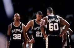 San Antonio Spurs David Robinson, Sean Elliot & Tim Duncan