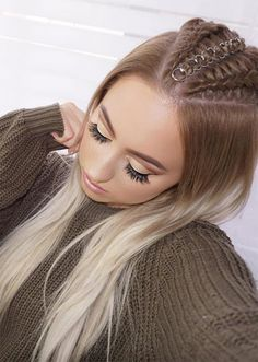 Trend Hairstylel Pretty Holiday Hairstyles,Holidays are coming and it simply the correct second to decide on a great coiffure. Here we have now chosen some fairly vacation hairstyles which can . Holiday Hairstyles, Twist Hairstyles, Top Braid, Natural Hair Styles, Long Hair Styles, Dream Hair, Braid Styles, Her Hair, Hair Inspo