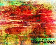"""""""Le fruit de mon esprit"""" (Fruit of my Mind)  Peinture hybride, fusion de peintures originales en techniques mixtes et de numérique. Février 2015. © 2015, Louise Lamirande. http://louiselamirande.com/peinture-hybride-et-boutique-en-preparation/  Digital painting created with my original mixed media paintings and pure digital effects. http://en.louiselamirande.com/project/le-fruit-de-mon-esprit-fruit-of-my-mind/"""