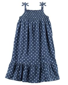 Kid Girl Star Chambray Maxi Dress | Carters.com