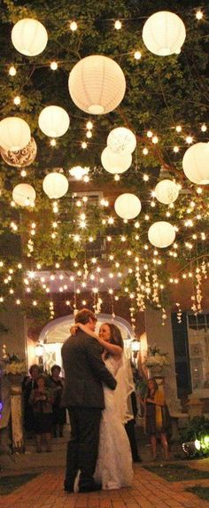 35 Excellent Dreamy Secret Garden Wedding Ideas with Invitations--hanging paper lanterns and lights wow factor wedding decorations, perfect for outdoor spring and summer weddings Trendy Wedding, Perfect Wedding, Rustic Wedding, Dream Wedding, Fall Wedding, Wedding Tips, Elegant Wedding, Luxury Wedding, Light Wedding