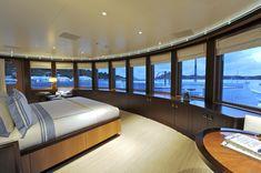 Incredible bedroom in an incredible luxury yacht [ Luxuryjacorentals.com ] #Yatch #luxury #destination #yachtfashion
