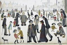 LS Lowry at Tate Britain: glimpses of a world beyond Salford, Tate Britain, English Artists, Industrial, Art Database, Art Uk, Naive Art, Urban Landscape, Figurative Art