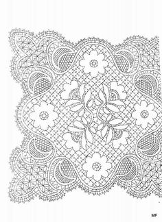 Ss Bobbin Lace Patterns, Crochet Square Patterns, Crochet Motif, Irish Crochet, Crochet Doilies, Tambour Beading, Bobbin Lacemaking, Bruges Lace, Point Lace