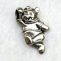 Vintage Estate Signed Disney Sterling Silver Winnie The Pooh Pendant Charm