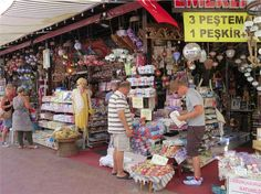 Turgutreis Bodrum Peninsula Turkey. Great place for shopping. This is the best place to buy Turkish Bath souvenirs from.