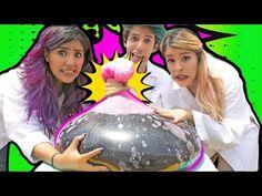¡EXPLOSIÓN DE GLOBO GIGANTE CON MENTOS Y COLA! | RETO POLINESIO LOS POLINESIOS - YouTube