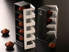 Criativa embalagem de chocolates desenvolvida pelo designer Gaku Abe.