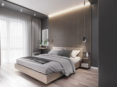 Bedroom on Behance Modern Luxury Bedroom, Modern Minimalist Bedroom, Master Bedroom Interior, Bedroom Bed Design, Home Room Design, Modern Bedroom Design, Luxurious Bedrooms, Home Bedroom, Room Decor Bedroom