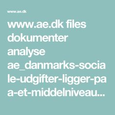 www.ae.dk files dokumenter analyse ae_danmarks-sociale-udgifter-ligger-paa-et-middelniveau-i-eu.pdf