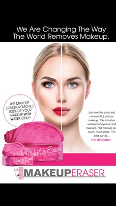 FREE SHIPPING and 20% off until December 25th Remove all you makeup including #waterproof #mascara with warm water and the MakeUp Eraser. No chemicals. All natural. Click link in Bio to order or for more information how you can earn extra income working for our company.  Distributors and retailers are encouraged. #makeup #makeuperaser #bblogger #makeup artist