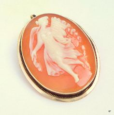 Hand Carved Cameo 14k Gold Cameo by JanesGemTreasures on Etsy