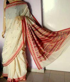 Handwoven Odisha tribal Donguria cotton saree