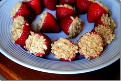 Cheesecake Stuffed Strawberries!  :)
