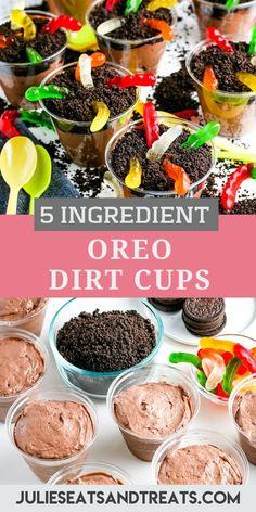 Dirt Pudding Recipes, Oreo Dirt Pudding, Chocolate Pudding Cups, Dirt Cake Cups, Dirt Cups, Dirt In A Cup, Shrek, Kid Desserts, Halloween Parties