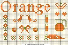 Orange cross stitch by Christine. 04.2015