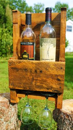 Recycled Pallet Wine Rack (Mini)