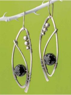 Tuxedo Earrings by Emese Szecsi | InterweaveStore.com