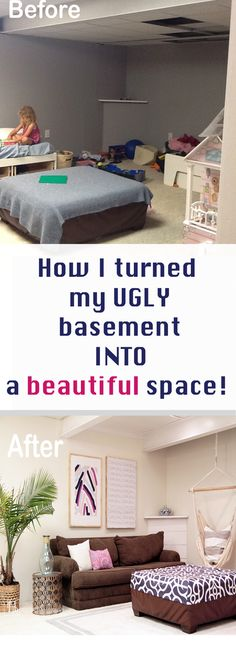 Do you have a dark and dreary basement? Come get tips to brightening and beautifying your basement without breaking the bank!!