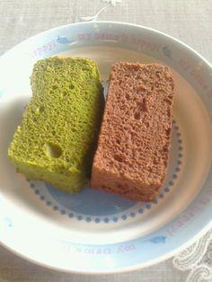 chocolate & green-tea cake