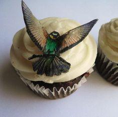 The Original EDIBLE Birds  Cake  Cupcake toppers  by SugarRobot, $8.95