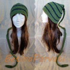 Green  blue unique freestyle crochet woodland by BetinaParvati