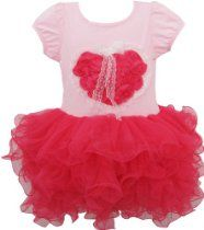 Girls Dress Heart Tutu Dance Pageant Party Kids Clothes Size 2-8